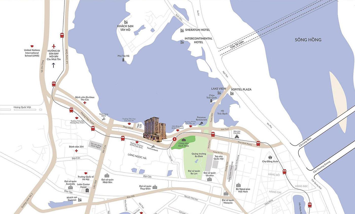 vị trí sun grand city thụy khuê
